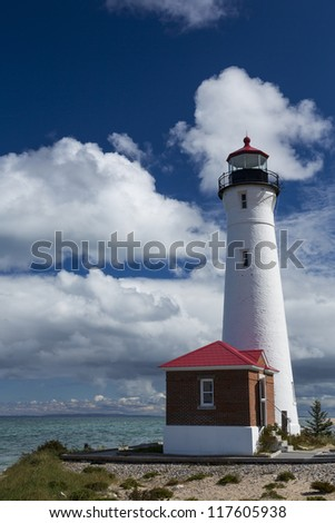 Crisp Point Lighthouse - stock photo