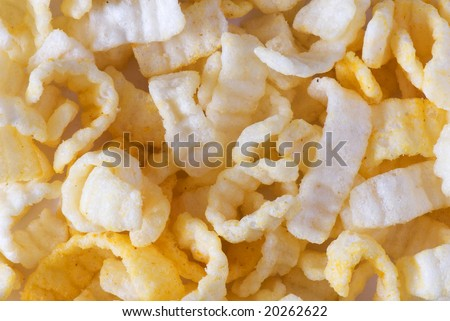 crisp potato chips on a light background