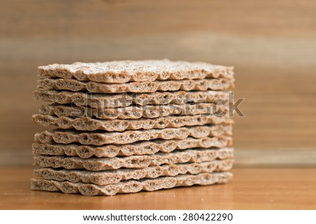 Crispbread closeup (3)  - stock photo