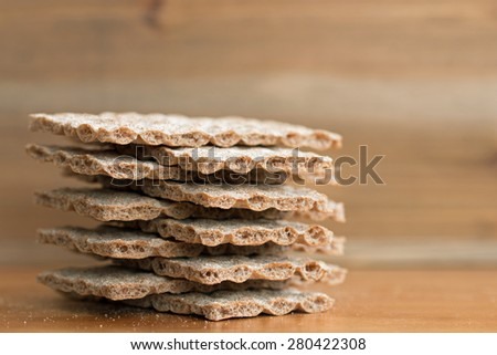 Crispbread closeup (6)  - stock photo
