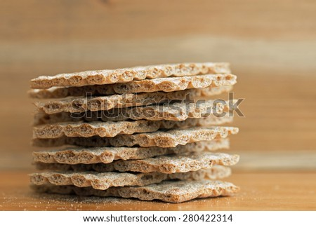 Crispbread closeup (8)  - stock photo