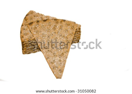 Crispbread, isolated on white