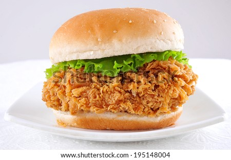 Crispy Chicken Burger - stock photo