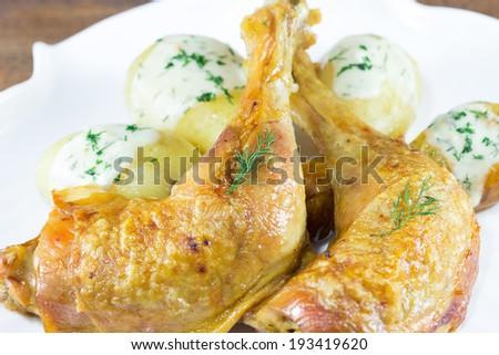 Crispy delicious chicken - stock photo