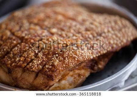 Crispy Pork Belly - stock photo