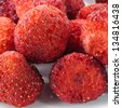 Crispy Strawberry on white background. - stock photo