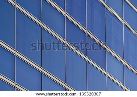crisscross pattern of a building front