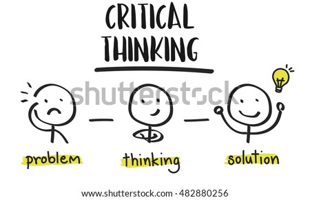 critical thinking creative brainstorm people concept stock illustration 482880256 shutterstock Creative Commons Clip Art Education Light Bulb Person Clip Art