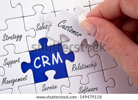 CRM - Customer Relationship Management - stock photo