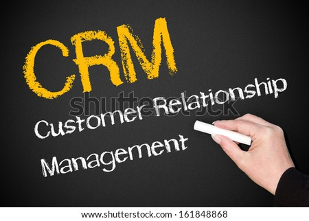CRM - Customer Relationship Management - stock photo