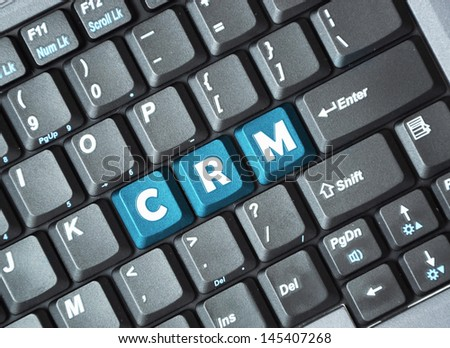 CRM on keyboard