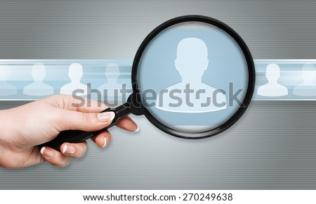Crm, targeting, staff. - stock photo