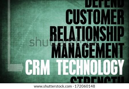 CRM Technology Core Principles as a Concept - stock photo