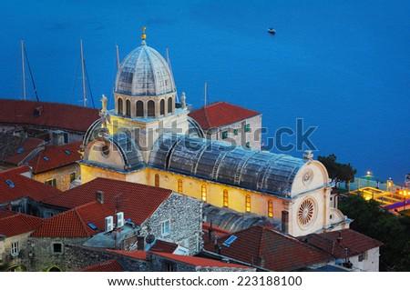 Croatia Cathedral St James Sibenik - stock photo