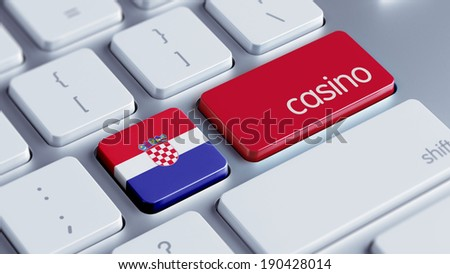 Croatia  High Resolution Casino Concept - stock photo