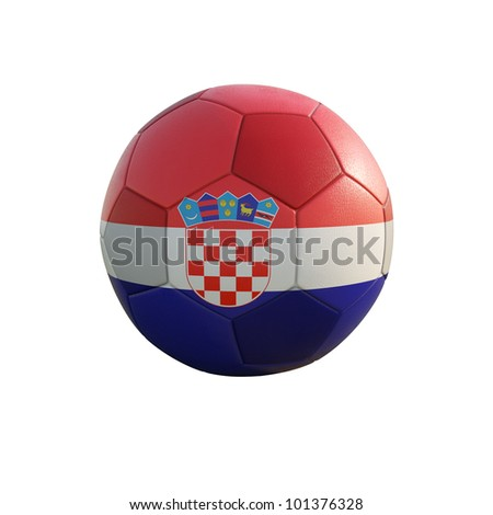 croatia soccer ball isolated on white - stock photo