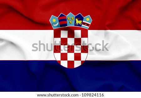 Croatia waving flag