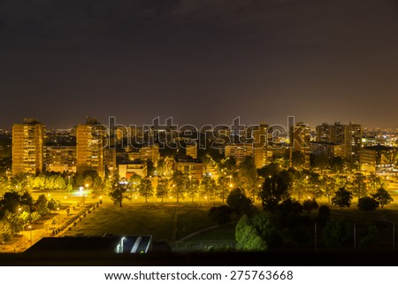 Croatia, Zagreb at night - stock photo