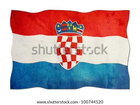 Croatian Flag made of Paper - stock photo