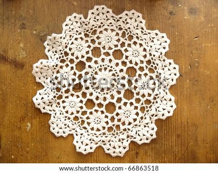 Crochet Doily - stock photo