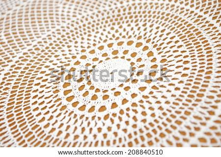 Crochet lace background - stock photo