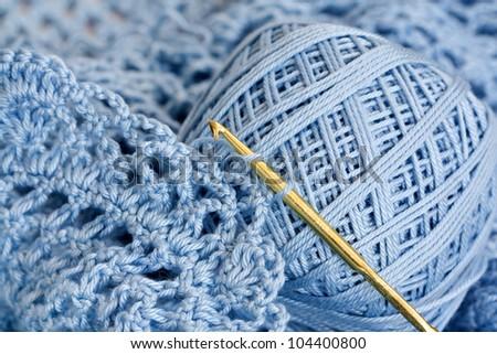 crochet stuff - macro - stock photo