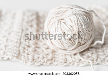 Crochet - weaving technique to work with yarn or string - stock photo