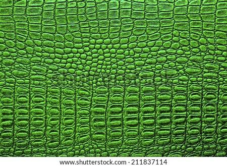 Crocodile leather texture background - stock photo