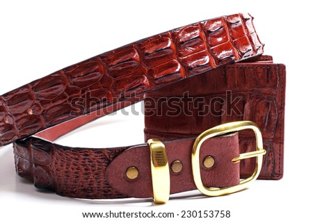 crocodile wallet and belt