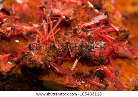 Crocoite Crystals - stock photo