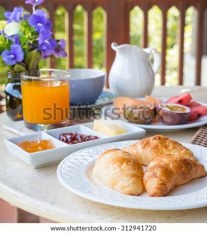 Croissant Bread - stock photo