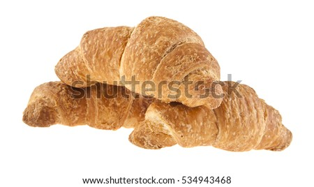 croissant isolated on white background closeup