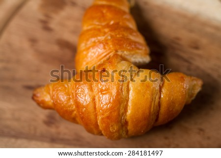 Croissants, homemade hot from the oven.