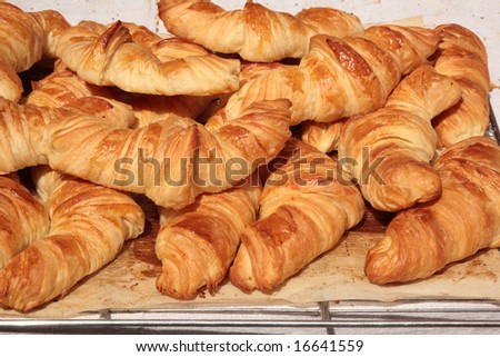 Croissants in the shop