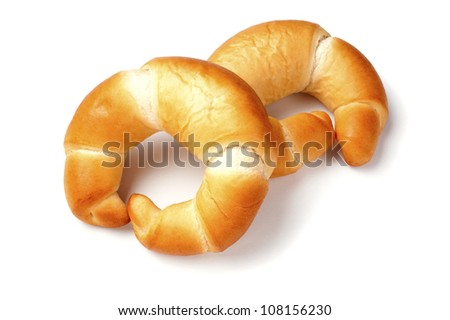Croissants isolated on white