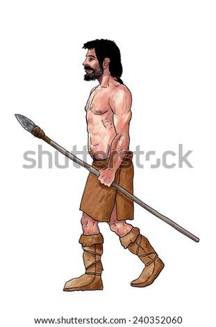 Cromagnon, homo sapiens - stock photo
