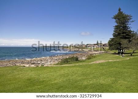 Cronulla Beach beside park - stock photo