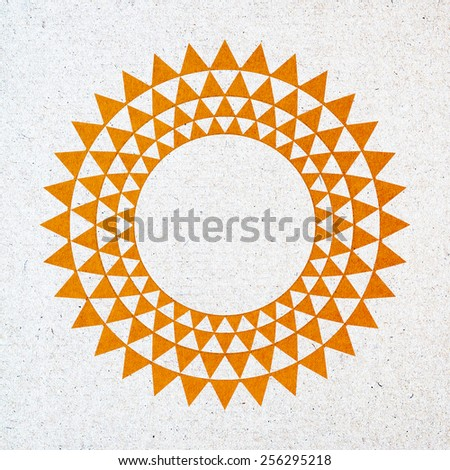 Crop circle abstract design ,Isolation paper craft  - stock photo