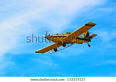 Crop Duster in Straight and level flight.