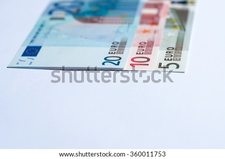 Crop of Euro banknotes