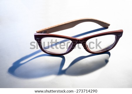 crop of glasses shape with silhouette lighting