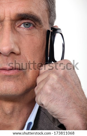 Cropped boss. - stock photo