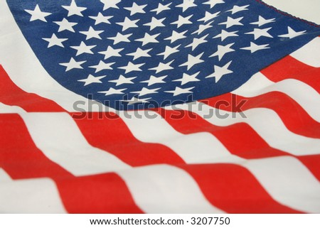 cropped photo of the flag of the United States. - stock photo