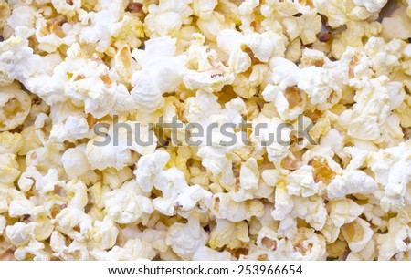 Cropped Popcorn texture background