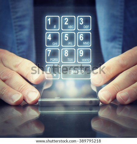 Cropped shot view of a man's hand keyboarding on touch smart phone