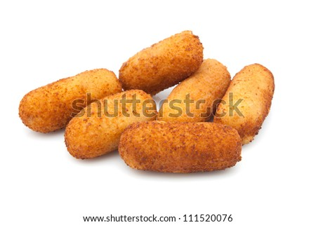 Croquettes filled with b���©chamel ready to eat