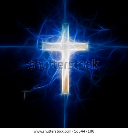 Cross Abstract - stock photo