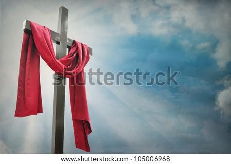 cross against the sky - stock photo
