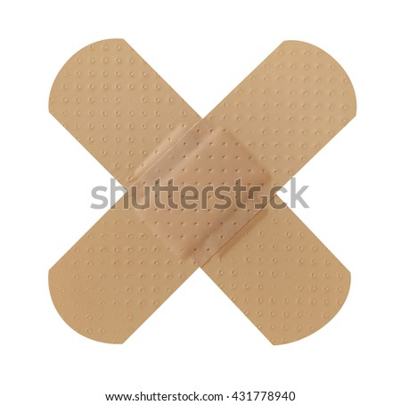 Cross band aid
