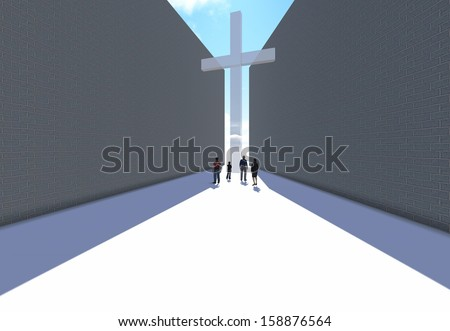 cross between two walls made in 3d software